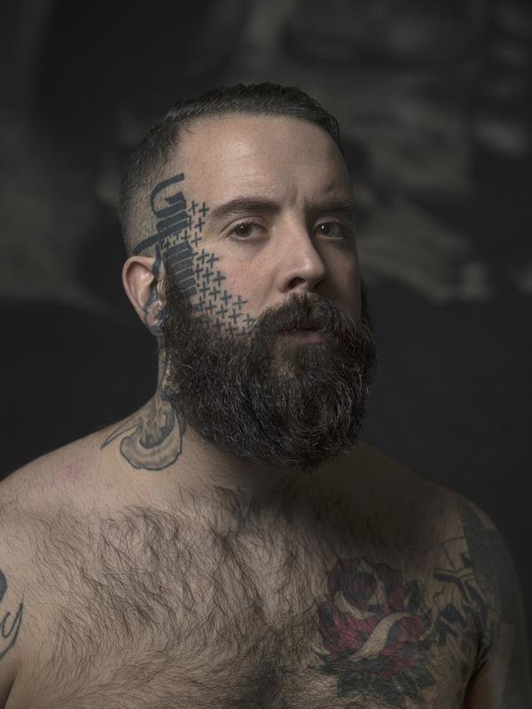 Face tattoo 024
