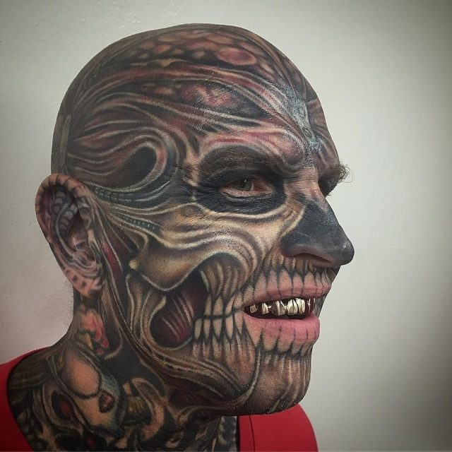 Face tattoo 12