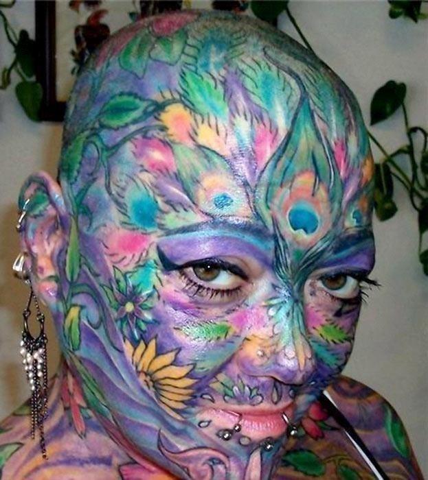 Face tattoo 4