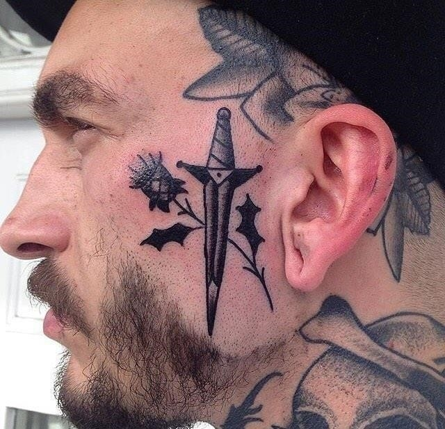 Face tattoo 9