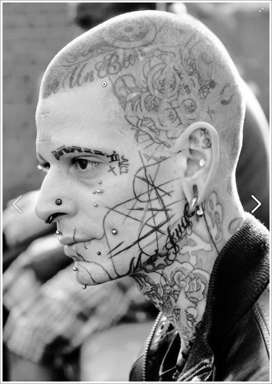 Face tattoo designs 36