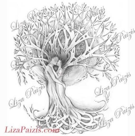 Family tree tattoo with names 7