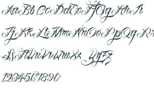 Fancy tattoo script fonts free 361662