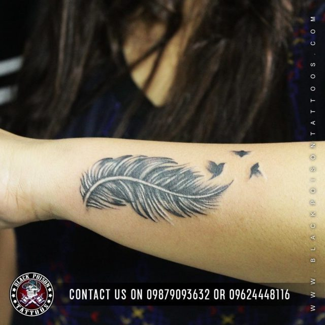 Feather birds tattoos designs ideas 58