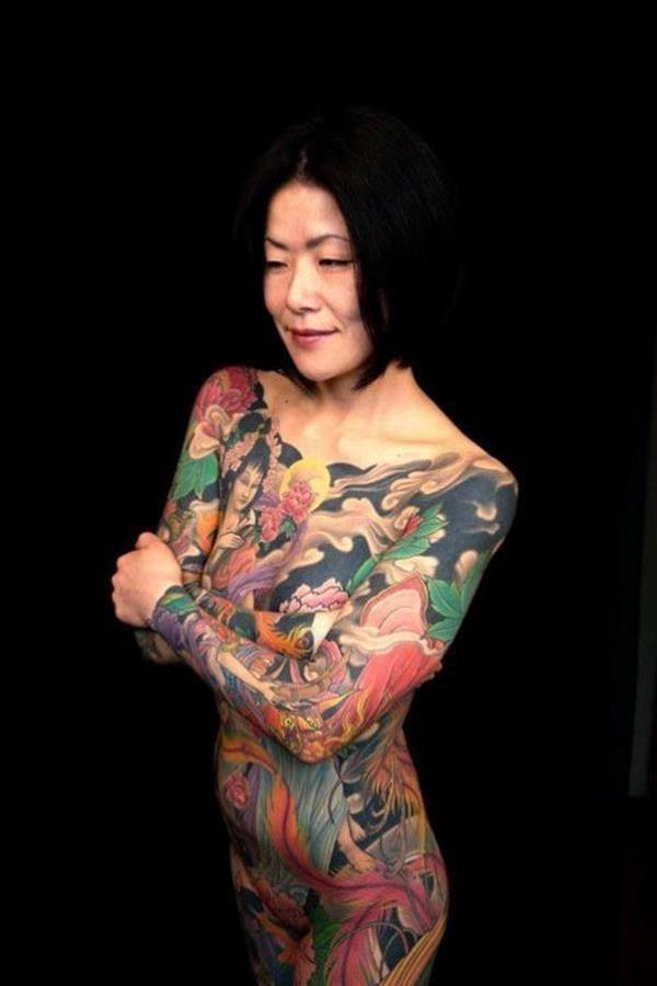 Female full body tattoo 3
