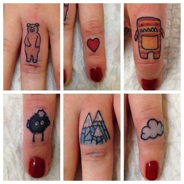 Finger tattoo 19