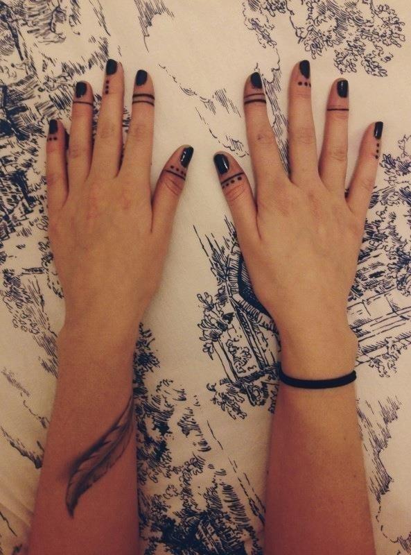 Finger tattoo 3