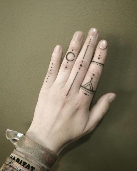 Finger tattoo designs 1