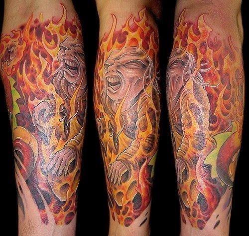 Fire tattoo 6