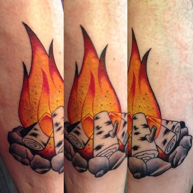 Flame tattoo 20