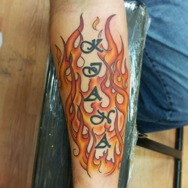 Flame tattoo 6