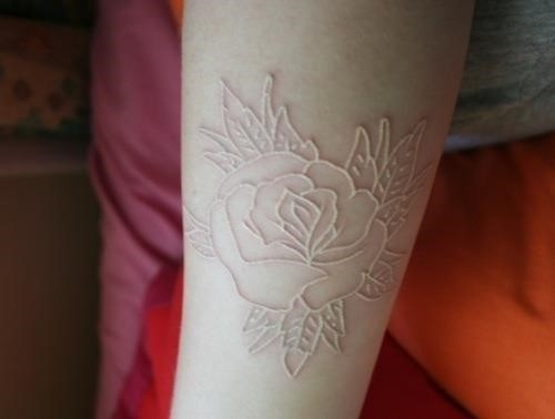 Flower White Tattoos designs 246