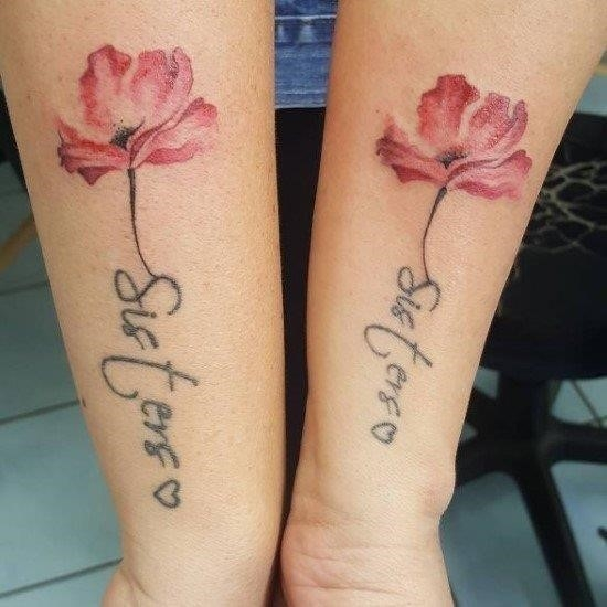 Flower sister tattoos 50 matching sister tattoos designs and ideas 2018 page 3 of 5 flower wall decor