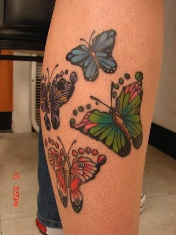 Footprint tattoo butterfly3