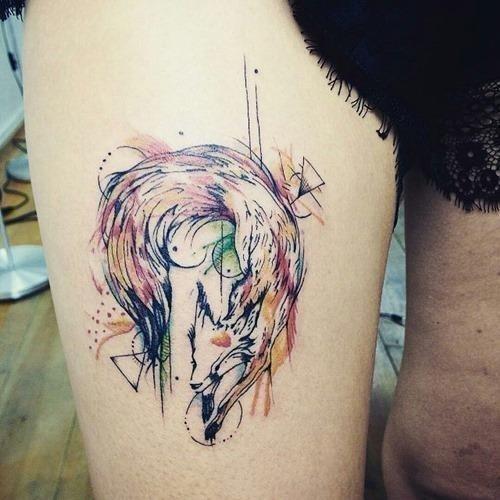 Fox tattoo designs 07
