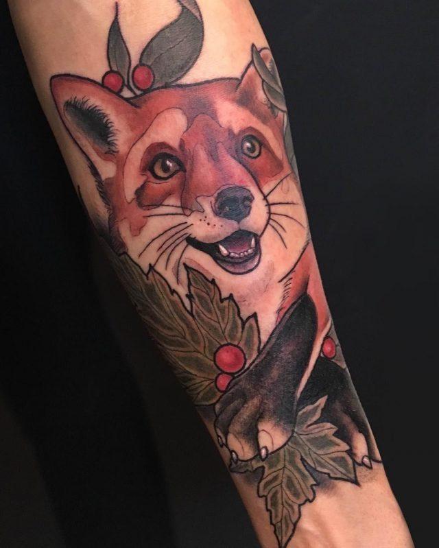 Fox tattoo  14