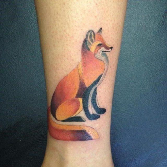 Fox tattoo  20 650×650
