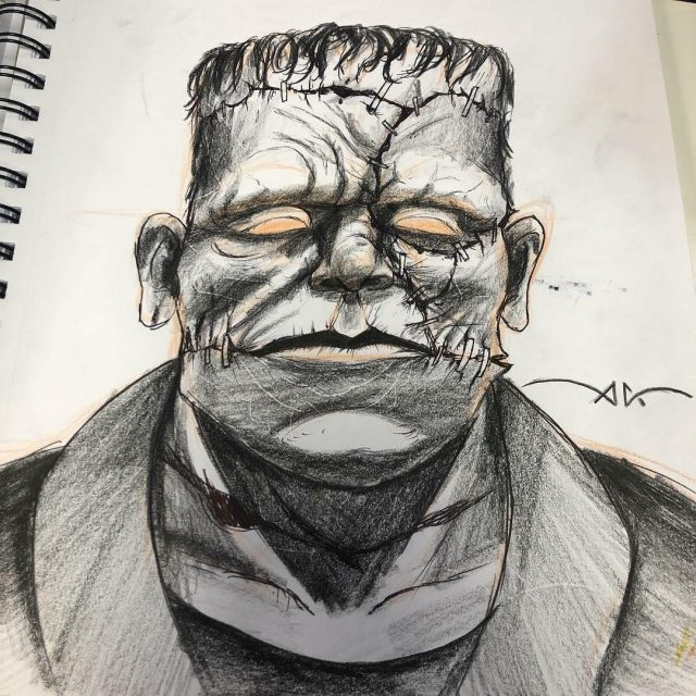 Frankenstein tattoo san antonio tattoos ink couture axel halloween horror specials orig