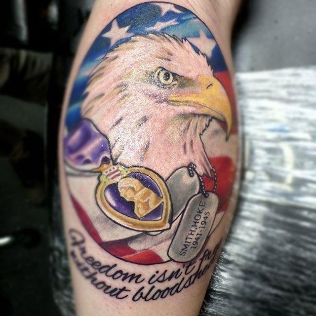 Freedom isnt free veteran tattoo