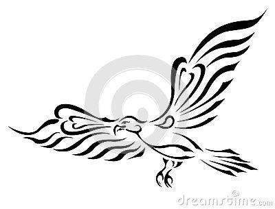 Freedom symbol tattoo flying eagle big wings 25014106