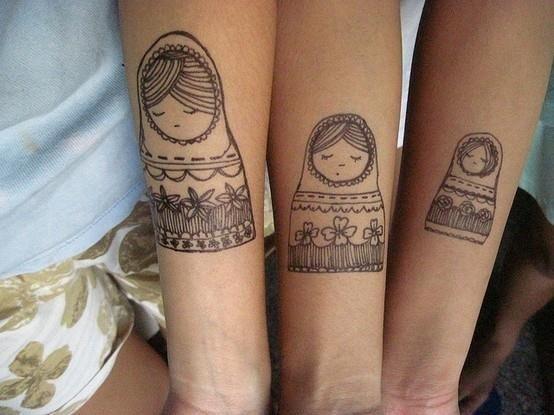 Friend tattoo russian dolls