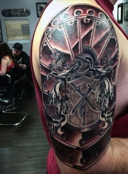 Full armor of god tattoo for men