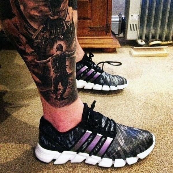 Full leg tattoos