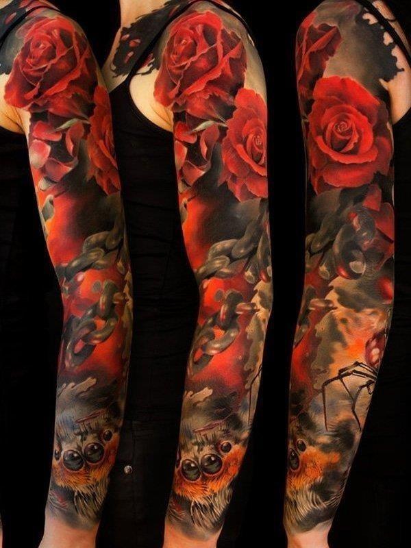 Full sleeve tattoo 8