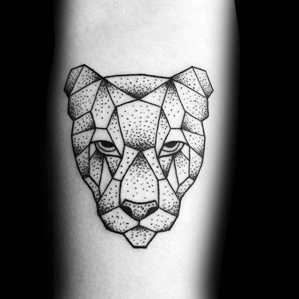 Geometric animal dog tattoos male