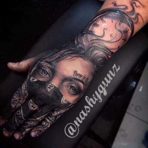 Great hand tattoo