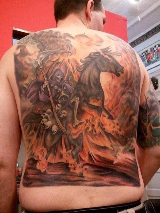 Grim reaper tattoo 1