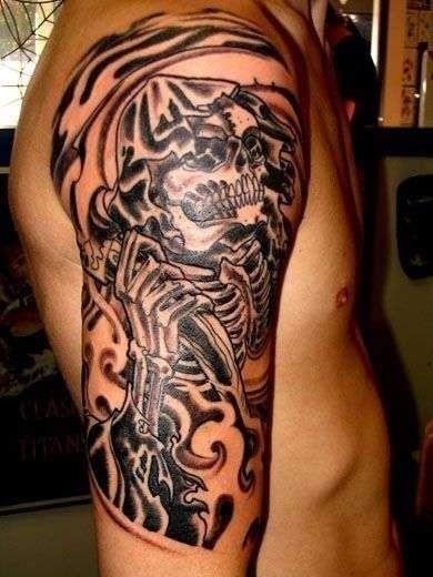 Grim reaper tattoo 38102