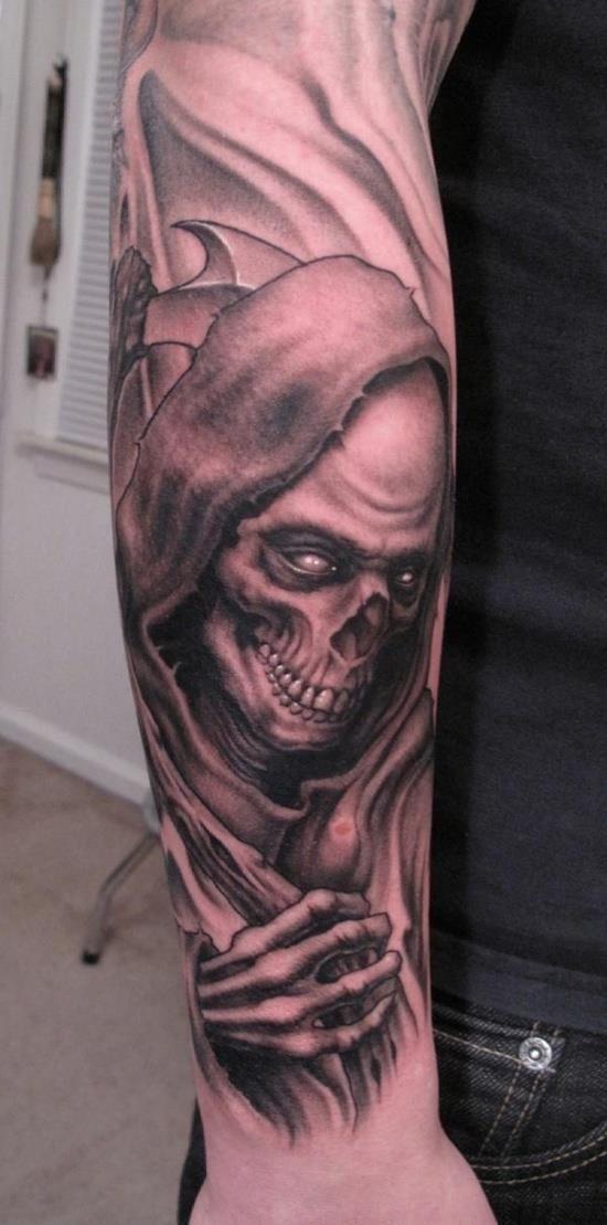 Grim reaper tattoo 6