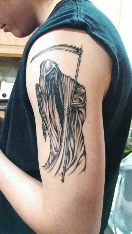 Grim reaper tattoo 8