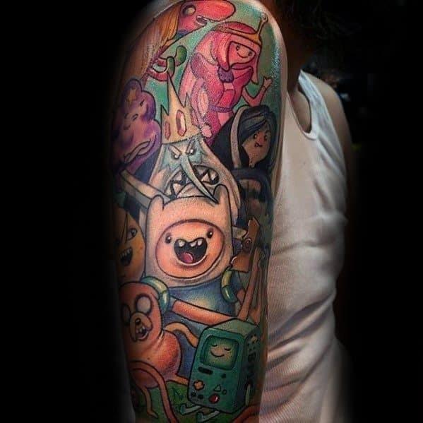 Guys adventure time tattoo designs
