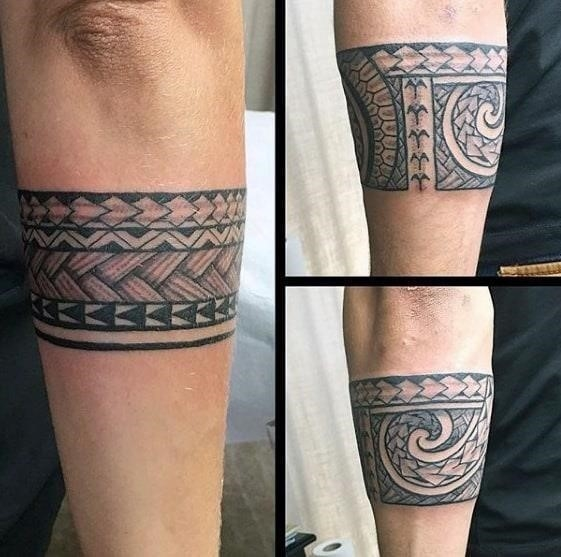 Guys armband polynesian tribal tattoos