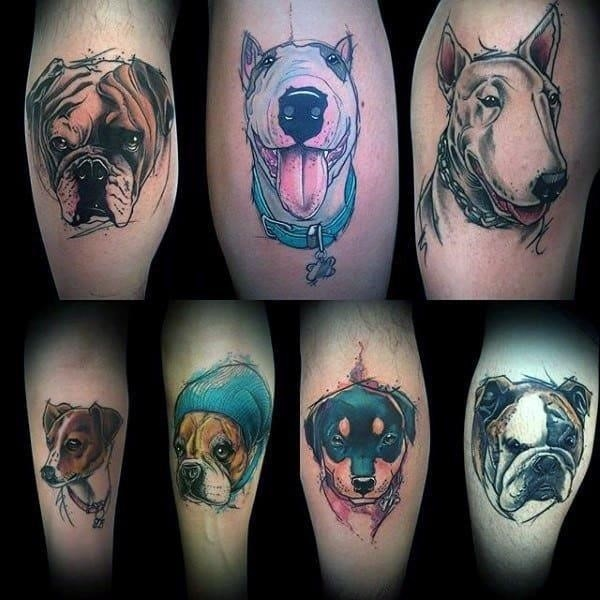 Guys dog tattoo inspiration and ideas