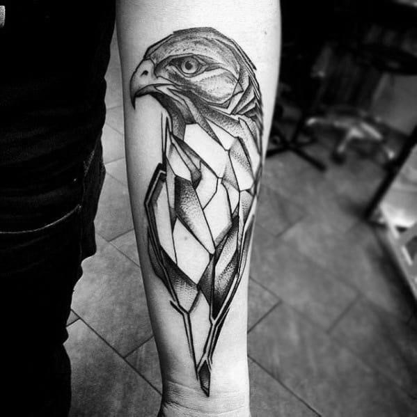 Guys geometric animal tattoo design ideas