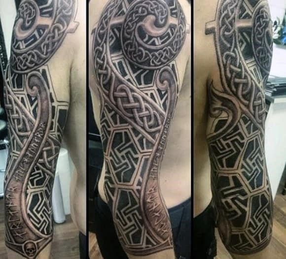 Half sleeve guys celtic knot tattoos