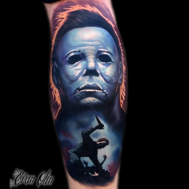 Halloween Michael Myers tattoo