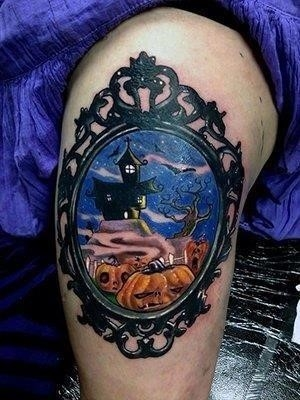 Halloween picture tattoo