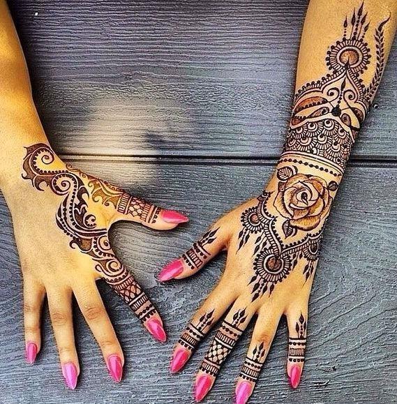 Hand henna tattoo designs02