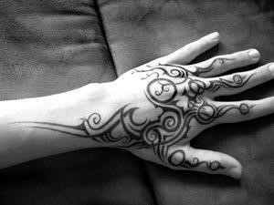 Hand tribal tattoo 3