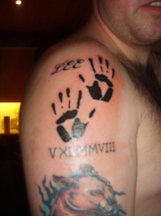 Handprint tattoo 24
