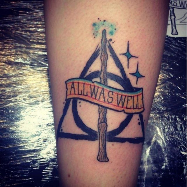 Harry potter deahtly hallows tattoo 1000×998