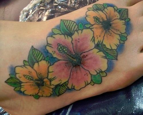 Hawaiian flowers tattoo 1