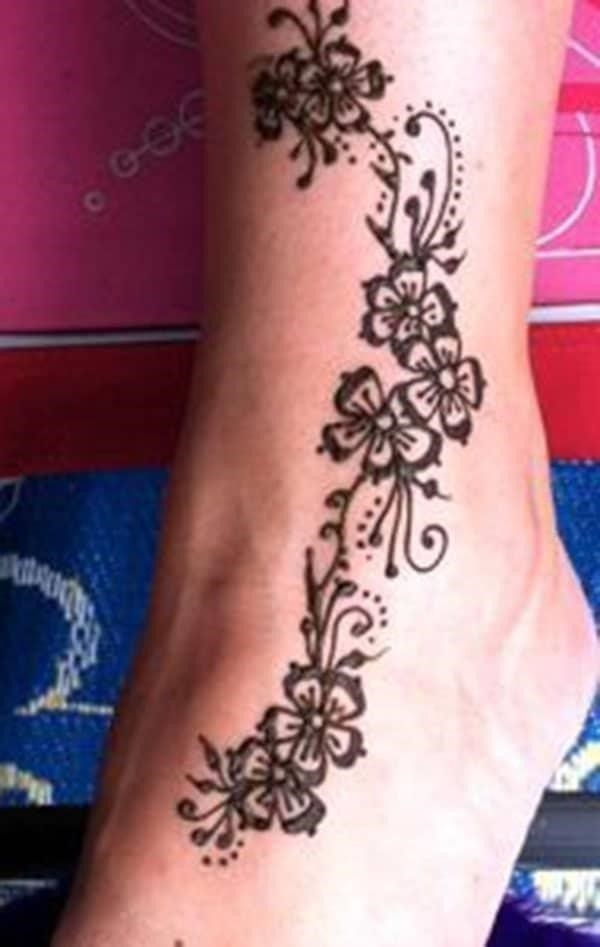 Henna design for ankle 15