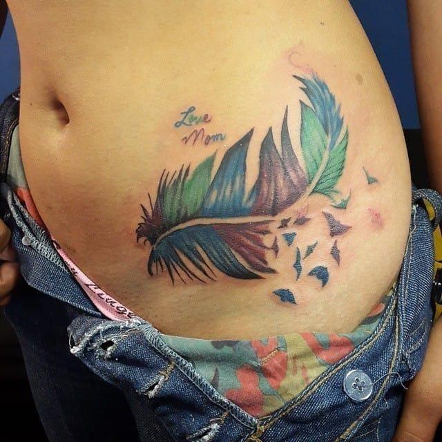 Hip tattoo 12