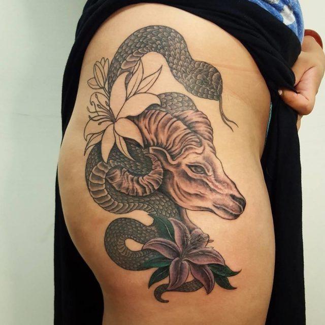 Hip tattoo 25