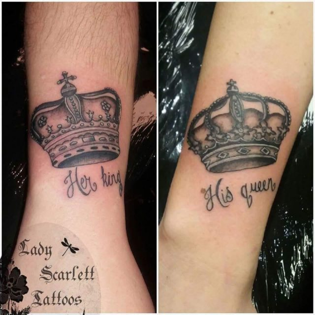 His and her couple tattoo